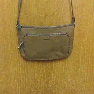 🌼🌿Fossil crossbody all leather tan bag 🌼💕🌿